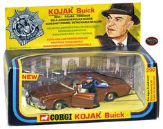 Corgi Toys 290 Kojack TV Show Buick Century Police Car model with figures w/guns! 70s Toys, Retro Toys, Vintage Toys, Childhood Toys, Childhood Memories, Police Car Models, Nostalgia, Corgi Toys, Matchbox Cars