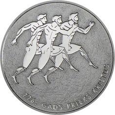 1 Lats Silber 100 Jahre Olympische Spiele PP