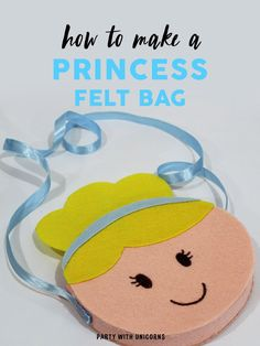 If you are looking for a fun afternoon craft, try this princess purse craft. Download a free template to use. Two templates available including Cinderella snow white. These bags are perfect for a princess party or an afternoon craft.  #princess #princesscraft