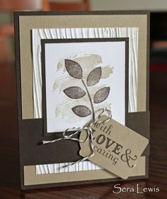 Sympathy card using Stampin' Up! Crazy About You, from Pink Paper Bakery