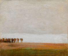 "Vilhelm Hammershoi's Paintings at Scandinavia House - The New York Times View of Jaegersborg Allé, North of Copenhagen"" (1892)."