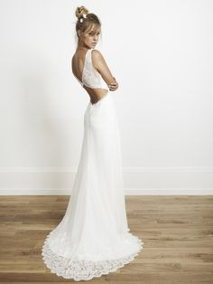 Lace wedding dress! Rime Arodaky Collection!