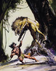Boris Vallejo, Cartoon Network Adventure Time, Adventure Time Anime, Tarzan Book, Tarzan Of The Apes, Fantasy Art Men, Conan The Barbarian, Sword And Sorcery, Sketch Painting
