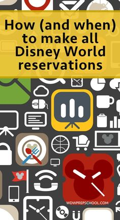 How and when to make all Disney World reservations - includes phone numbers, cancellation policies, which reservations require full payment when booking, and which ones show up in My Disney Experience Disney World Resorts, Disney World Reservations, Disney World 2017, Disney World Florida, Disney Vacations, Disney Travel, Disney World Travel Agent, Disney Vacation Packages, Disney World Packages