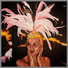 "showgirl  48""x48 oil commission"