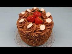 Tort Richard - 6 foi cu nuca, crema de ciocolata si coaja de portocala confiata - YouTube Romanian Desserts, Caramel, Deserts, Sweets, Make It Yourself, Cake, Youtube, Food, Kuchen