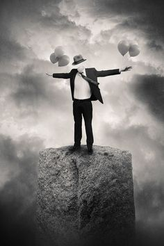 Tommy Ingberg crea The Reality Rearranged, una colección de fotografías en blanco y negro plagadas de surrealismo. Letting go of passing thoughts .the Realization of Standing on The Firm Ground of Eternal Existence Dawns Naturally of Its Own Accord. Surrealism Photography, Conceptual Photography, Dark Photography, Photography Office, Inspiring Photography, Surreal Photos, Surreal Art, White Art, Black And White