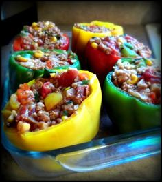 Awesome Vegan Stuffed Peppers