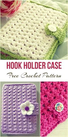 Hook Holder Case [Free Crochet Pattern]