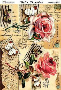 Decoupage Vintage, Vintage Diy, Decoupage Paper, Vintage Birds, Vintage Ephemera, Vintage Paper, Vintage Flowers, Vintage Prints, Decoupage Printables