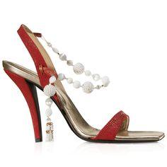 Sandalo Madame V in Galuchat