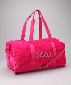 Take a look at this Confetti & Friends Pink 'Dance' Duffel Bag by Dance Class Collection on today!