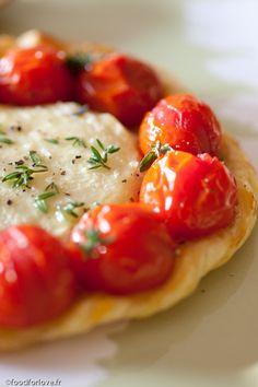 Tartelettes au Rocamadour et Tomates Cerise de foodforlove