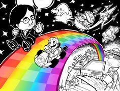 Thank you, Iwata. This is my tribute art dedicated to Satoru Iwata. Thank You Iwata- On Rainbow Roads Super Smash Bros, Super Mario Bros, Nintendo Pokemon, Nintendo Characters, Satoru Iwata, Advance Wars, Katamari Damacy, Otaku, Nintendo Switch Games