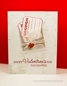 Valentine's Day card created by Cheiron Brandon using Hero Arts products