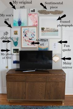 How To Disguise A TV With A Gallery Wall