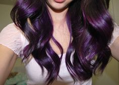 Purple.. I would really enjoy my hair being this color at some point.