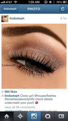 goldish brown eye makeup