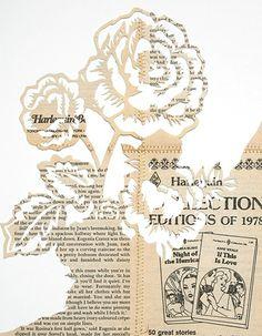 Paper cut using old books