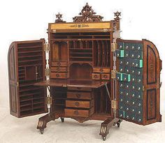 Interior Design/Wooten Desk from 1870/ love how the Victorians had a place for everything.