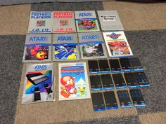 NO GAMES ATARI 5200 SYSTEM CONSOLE INSTRUCTION BOOKLET MANUAL OVERLAY LOT PENGO+ #Atari2600