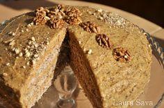 Tort de nuca | Retete culinare cu Laura Sava Romanian Food, Muffin, Mai, Bread, Breakfast, Desserts, Pastries, Cakes, Mascarpone