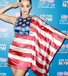 Katy Perry shows off her patriotic side Definitely a winner for Memorial Day or 4th of July parties!!