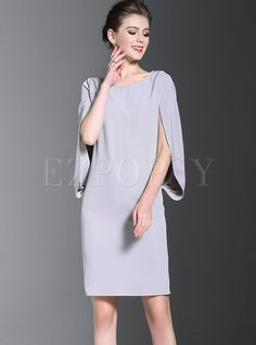 Shop for high quality Casual Bat Sleeve O-neck Bodycon Dress online at cheap prices and discover fashion at Ezpopsy.com