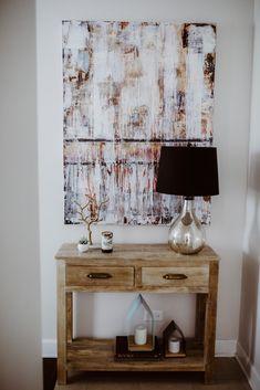 Painting by Melissa Kucia, White X White, and Benjamin Moore Paint (Balboa Mist)