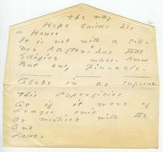 Emily Dickinson's Envelope-Poems