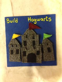 Velcro and felt building quiet book page
