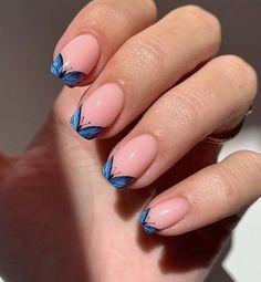 Nail Art Designs Videos, Short Nail Designs, Best Acrylic Nails, Acrylic Nail Designs, Nail Polish Designs, Nail Polish Colors, Stylish Nails, Trendy Nails, Happy Nails