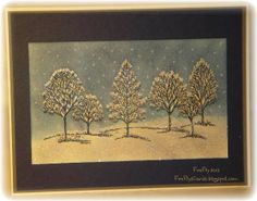 Lovely as a Tree Snowy Night card by Shawn Crawford