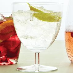 Nothing welcomes guests to an outdoor party like a spritzer. Made with or without wine, it's a refreshing, elegant cooler.