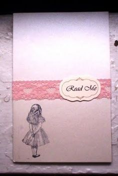 DIY Weddings- Vintage Alice in Wonderland: DIY Wedding Invitations