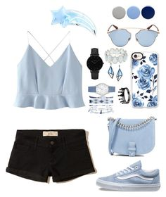 """""""I hope you think my favorite song, the one we danced to all night long, in my old faded blue jeans"""" by gothgirl87454 ❤ liked on Polyvore featuring WithChic, Hollister Co., Casetify, CLUSE, Christian Dior, A.X.N.Y., Issey Miyake, Kim Rogers, Vans and Little Liffner"""