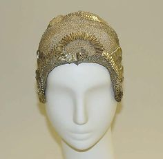 Evening cloche | French, 1920's | Materials: cotton, metal thread | The Metropolitan Museum of Art, New York