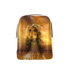 Dog Afghan Hound Popular Backpack (Model 1622)