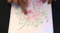 EzyShaid(R) Colour's Roses , ready to colour and frame.