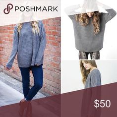 Knot Sisters waffle sweater Great condition. No stains or pulls Free People Sweaters Crew & Scoop Necks