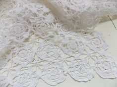 Vintage Hungarian Lace Small Tablecloth / Hand by SmallbonesStudio