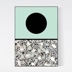 Terrazzo Poster - 5mm Paper  This Terrazzo Poster Collection combines pictures of real terrazzo stone with abstract and minimal graphic art. Terrazzo is known for its beautiful patterns that have a modern look and yet a natural feel. In this series of posters the Terrazzo stone is the star of the artwork. The texture and different patterns are in contrast with the minimal graphic artwork, which results in a very unique piece of wall decoration.
