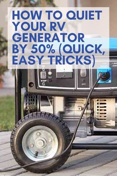 How to Quiet Your RV Generator by (Quick, Easy Tricks) - How to Quiet Your RV Generator by (Quick, Easy Tricks). RV parks, camper trailers, campervan in - Travel Trailer Living, Travel Trailer Camping, Travel Trailers, Camper Generator, Travel Trailer Generator, Portable Generator, Rv Camping Tips, Rei Camping, Walmart Camping