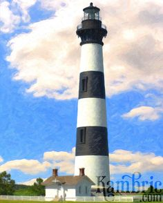 Bodie Island Lighthouse Painting  Giclee Print of by KambricArt, $20.00