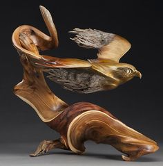 Korneplastika. Sculptor J Christopher White the motion in this piece is incredible