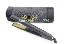 Midnight Colletion Iron 1 Inch Brand Straightener comb Styler factory cheap wholesale Gold Styler Ceramic Hair Straightening