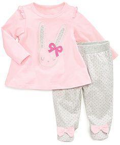 First Impressions Baby Girls' 2-Piece Shirt & Pants Set