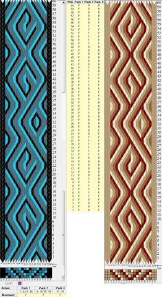 20 tarjetas, 3 / 4 colores, repite cada 32 movimientos // sed_426 diseñado en GTT༺❁