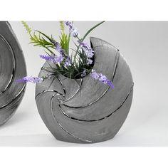 Vase moderne en flet ligne 26cm en argent brossé mat de la céramique: Amazon.fr: Cuisine & Maison