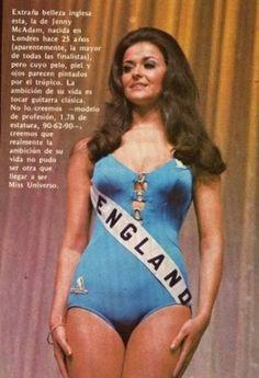 Jennifer Mary McAdam - Miss Universe England 1972